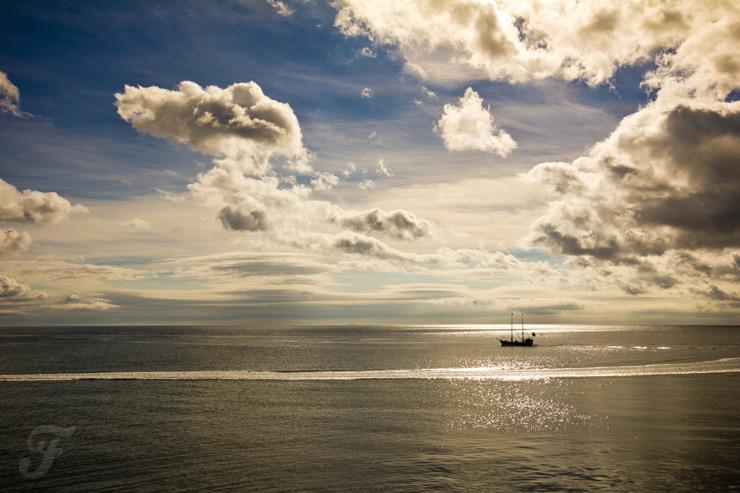 Sea, Sun, Clouds